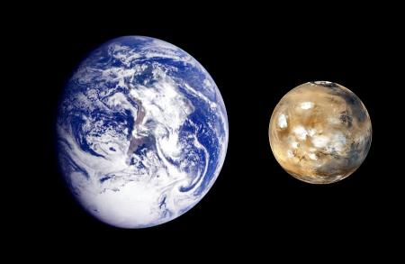 Actual Photo Earth-mars Actual Photo
