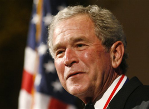 300-AP-GeorgeWBUsh.3_2_10.HistoryMakingTexanDay