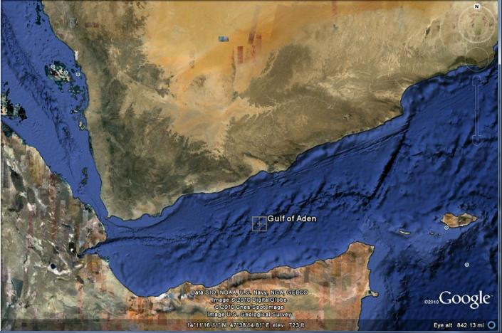 Gulf of Aden - Google map